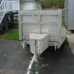 4 x 8 aluminum dump trailer