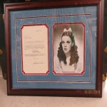 Judy Garland letter, signature and print