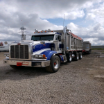 2008 peterbilt dump truck with pony pup for sale
