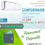 SALE GOODMAN CLIMATISEUR THERMOPOMPE MURALE AVEC INSTALLATION
