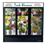 Floral/ Flower Coolers TRUE GDM 1-2-3- Glass Door Commercial Coolers