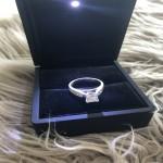 Stunning Princess Cut Engagement Ring