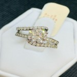 NEW! 1.51TCW WITH (1.11CT) CENTER DIAMOND ENGAGEMENT RING 18K WG