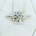 NEW RD 2.00CT (GIA) DIAMOND ENGAGEMENT RING 14K WG ON SALE NOW !!!!