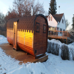 Wood Fired Square Barrel Sauna, Amazing panorama look out!!!