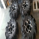 Set of 4 Gorilla Silverback tires on CanAm rims