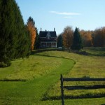 Victorian era farm with large pond, Moonstone Ontario